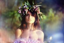 Nastya / girl in delicate colors